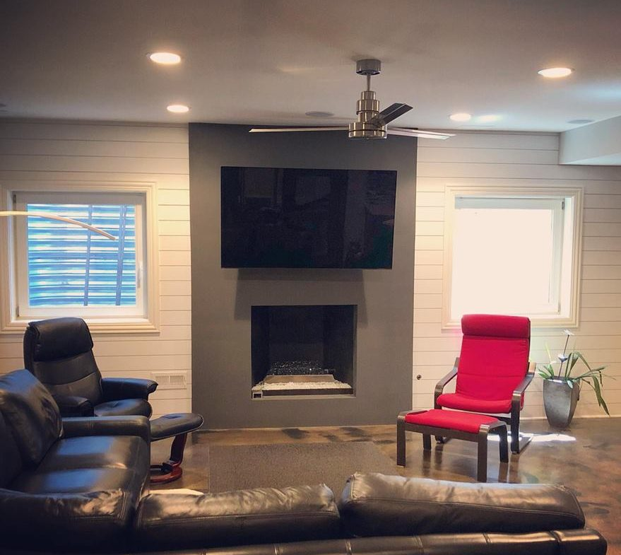 TV Wall Mounted On Fireplace-Etronics of Illinois